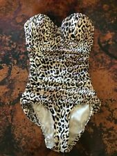 Nwt New Victoria's Secret One Piece Ruched Leopard Print Size 6 Swimsuit Maillot