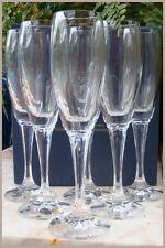 x6 Vintage Boxed Bohemia Crystal MELISSA Champagne Flutes White Wine Glasses