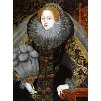 Queen Elizabeth I England Portrait Painting Royal Historic Large Canvas Print