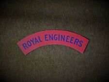 Royal Engineers reproduction printed badges WWII  for Battledress