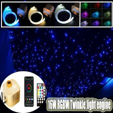 300x Stars RGB Car SUV Interior Roof Ceiling Decor 2m Fiber Optic Wire Bluetooth