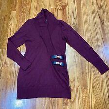 INC Womens Long Sleeve Plum Buckle Knit Tunic Sweater Top Shirt Size M NWOT Flaw