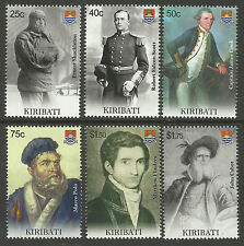 KIRIBATI 2009 SEAFARING & EXPLORATION Cook Polo Scott Shackleton Set of 6v MNH