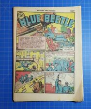Mystery Men Comics #21 1941 Blue Beetle Coverless Golden Age