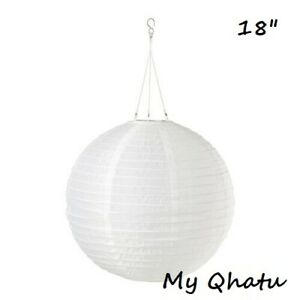 """IKEA SOLVINDEN White LED Solar Powered Pendant Lamp Decoration ON-OFF 18"""""""