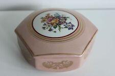 Boîte à Bijoux Bonbonnière Porcelaine de LIMOGES Décor Floral Réhauts Emaillés