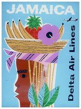 "Jamaica Art Vintage Travel Poster Jamaican Print 12x16"" Rare Hot New XR151"