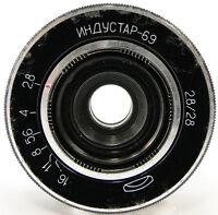 INDUSTAR-69 2.8/28 Russian Soviet USSR Wide Angle Pancake Lens M39 MMZ-LOMO #50