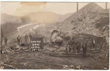 RPPC  1911 RPPC Real Photo OWENS BROS. Train Crash Apr.14, 11