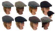Ivy Plaid Herringbone Newsboy Cabbie Gatsby Golf Driving Wool Flat Hat Cap