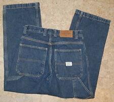 Boys Jeans OLD NAVY Painter's Jeans CARPENTER Size 12 Dark Blue Denim