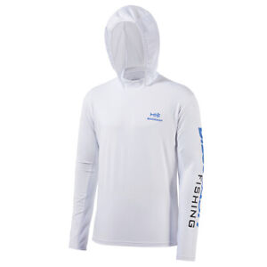 Bassdash UPF 50+ Men's UV Sun Protection Long Sleeve Hooded Fishing Shirts Tee