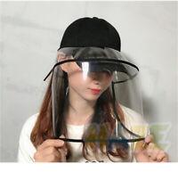 Casquette de baseball chapeau de protection amovible extérieur anti-poussière