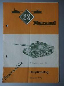 ROCO Minitanks Hauptkatalog (sehr alt)