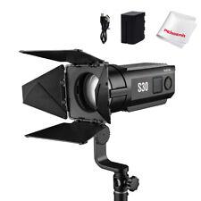Godox S30 30w Focusing LED Spotlight 5600K for Photography Lighting+ Barn Door