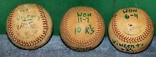 Lot of 3 Vintage Game Used Baseballs - Inscribed Souvenirs  1970's Era