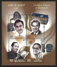 INDIA 2003 Golden VOICE OF SINGERS MINIATURE SHEET MS MINT Cat VALUE Rs 250/-