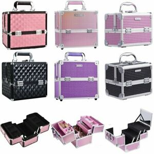 Professional Makeup Case Vanity Cosmetic Beauty Nail Jewelry Storage Carry Box