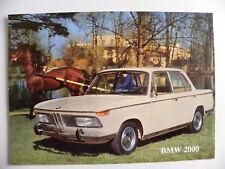 Brochure BMW 2000 / 2000 TI de 05 / 1966 en français