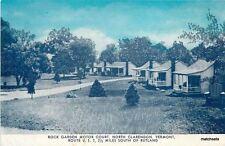 1930s Rutland Vermont Rock Garden Motor Court Eagle postcard 7618