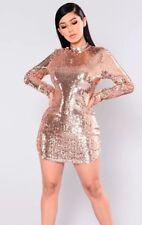 Fashion Nova Sequin Dress Rose Gold - Brand new