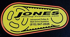 JONES RACING PRODUCTS DECAL SPRINT CAR NASCAR DRAG RACING LATE MODEL BELT SYSTEM