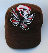 SKULL (Death) BUTTERFLY (Soul) One Size Fits Most Flat-Top Baseball Cap Hat