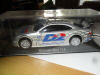 Dickie Die Cast Mercedes CLK Motor Sport Car 1/24 SILVER In a display cabinet