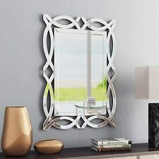 "Large Antique Wall Mirror Ornate Glass Framed Venetian Decor Mirror 28"" X 39"""