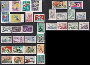 Korea Stamp 1967 2 pages of 11 mint sets, inc Flowers, Army