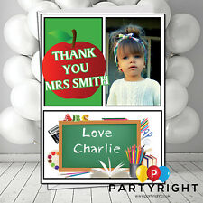 Personalised Thank You Teacher School Leaving New Term Your Photo Card