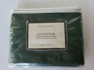 POTTERY BARN Cover Outdoor Furniture for Umbrella Green NEW
