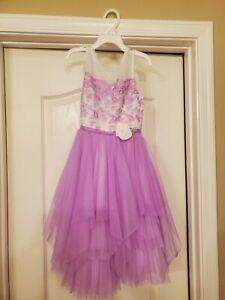 Jona michelle girls lilac, lavendar Easter Party Dress Size 10