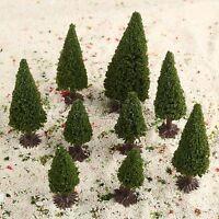 15pcs HO N Z Multi Scale Cedar Model Trees Train Railway Diorama Layout Scenery