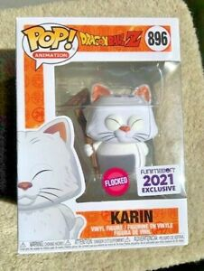RARE Flocked KARIN 896 DBZ Funimation Funko Pop Vinyl New in Mint Box +Protector