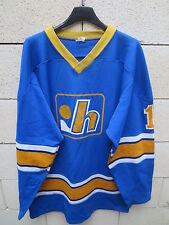 VINTAGE Maillot hockey KIWANIS DE HULL n°1 shirt jersey années 80 trikot L / XL