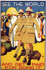 Vintage British Empire Recruitment Poster A3 Reprint
