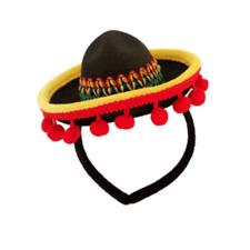 Mini Mexican Sombrero Hat on Headband Costume Accessory Fiesta Party Supplies