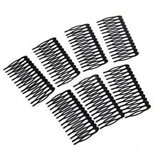 10 Metal 14 Teeth Hair Comb Clip Slide Hairpin DIY Hair Jewelry Making 7.5cm