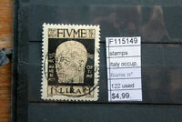 STAMPS ITALY OCCUPATION FIUME N°122 USED (F115149)