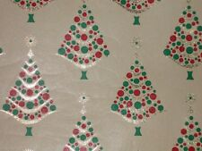 VTG CHRISTMAS JEWELRY STORE FOIL WRAPPING PAPER GIFT WRAP 2 YARDS 1960 TREES