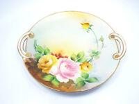 Antique Morimura Wreath Nippon Porcelain Hand Painted Floral Plate