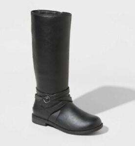 Girls' Theresa Tall Riding Boots Black - Cat  Jack - SIZE 2