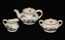 DISCONTINUED COALPORT STRAWBERRY PATTERN MINI / MINIATURE 5 PIECE TEA SET NEW