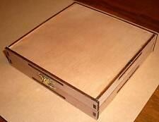 3 CD/DVD Hüllen aus Holz Holzbox Birke gebeizt CDHüllen Holzhülle Leerhüllen Neu