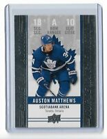 2018-19 UPPER DECK TIM HORTONS GAME DAY ACTION #GDA10 AUSTON MATTHEWS UD LEAFS