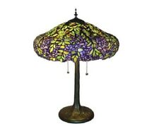 Tiffany Style Table Lamp Handcrafted Bedroom Living Room Stained Glass Floral