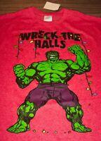 Marvel Comics INCREDIBLE HULK Wreck The Halls CHRISTMAS T-Shirt 2XL XXL NEW