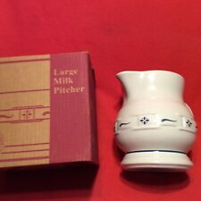 Classic Blue 2 Quart Pitcher Longaberger Usa Hall Pottery East Liverpool Ohio Oh