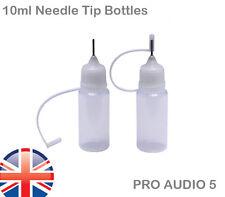 5x 10ml Needle Tip Dropper Bottles E - Glue - Precision Tip Filler Bottles oil
